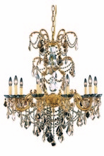 Elegant 9710D29FG-GT/RC - 9710 Athena Collection Chandelier D:29in H:35in Lt:10 French Gold Finish (Royal Cut Crystals)