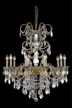 Elegant 9710D29FG/SA - 9710 Athena Collection Chandelier D:29in H:35in Lt:10 French Gold Finish (Spectra� Swarovski� Crysta