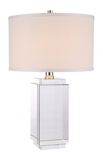 Elegant TL1011 - Regina Collection 1-Light Chrome Crystal Table Lamp