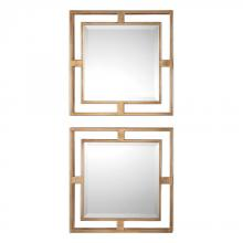 Uttermost 09234 - Uttermost Allick Gold Square Mirrors S/2