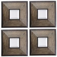 Uttermost 13817 - Uttermost Fendrel Squares Wood Mirror Set/4