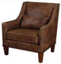 Uttermost 23030 - Uttermost Clay Leather Armchair