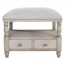 Uttermost 23355 - Uttermost Bailor White Canvas Bench