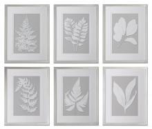 Uttermost 41394 - Uttermost Moonlight Ferns Framed Art, S/6